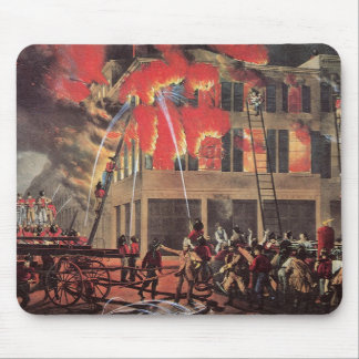 Vintage Business, Fire Fighters Fireman Firemen Mouse Pad