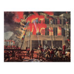 Vintage Business, Fire Fighters Fireman Firemen Postcard