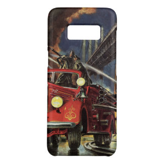 Vintage Business, Fire Trucks Firemen Firefighters Case-Mate Samsung Galaxy S8 Case