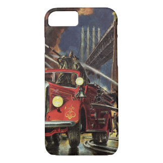 Vintage Business, Fire Trucks Firemen Firefighters iPhone 8/7 Case