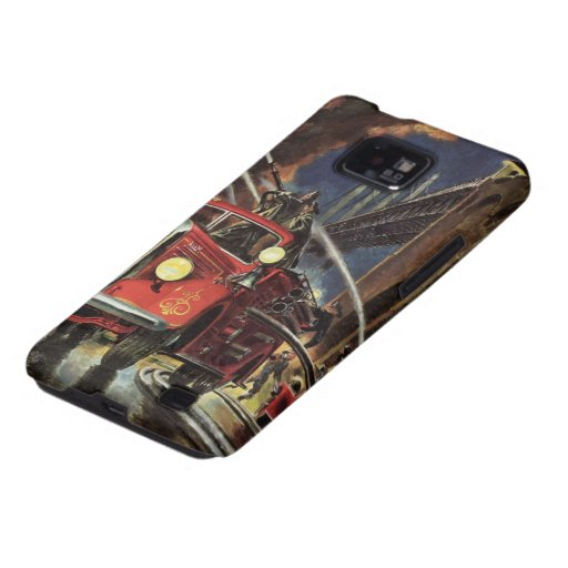 Vintage Business, Firemen Firefighters Fire Trucks Galaxy SII Cases