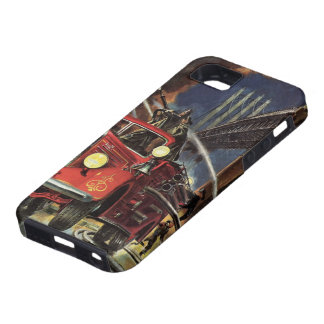 Vintage Business, Firemen Firefighters Fire Trucks iPhone 5 Cover