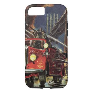 Vintage Business, Firemen Firefighters Fire Trucks iPhone 7 Case