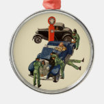 Vintage Business, Joe's Full Service Gas Station Christmas Tree Ornaments