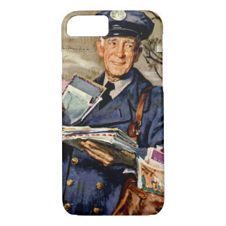 Vintage Business, Mailman Delivering Mail Letters iPhone 7 Case