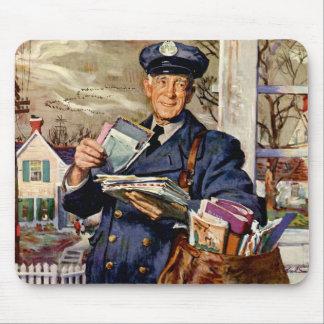 Vintage Business, Mailman Delivering Mail Letters Mouse Mat
