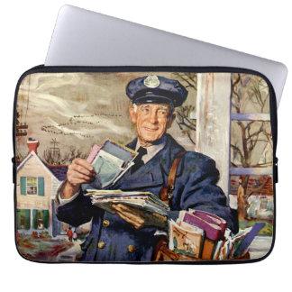 Vintage Business, Mailman Mail Delivering Letters Computer Sleeves