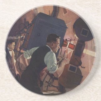 Vintage Business, Movie Theater Projectionist Coaster
