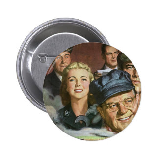 Vintage Business Occupations, Patriotic Patriotism 6 Cm Round Badge