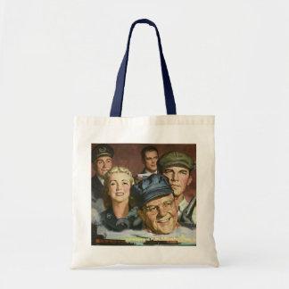 Vintage Business Occupations, Patriotic Patriotism Budget Tote Bag
