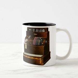 Vintage Business, Old Fashioned Cash Register Coffee Mug