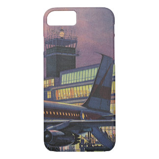 Vintage Business Passengers on Airplane at Airport iPhone 8/7 Case