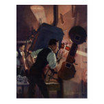Vintage Business, Projectionist in a Movie Theatre Postcards
