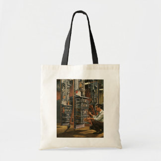 Vintage Business Radio Technician Fixing Equipment Tote Bag