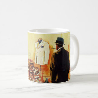 Vintage Business Retail Store, Man Window Shopping Coffee Mug