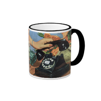 Vintage Business, Rotary Dial Telephone Mug