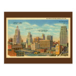 Vintage Business Section Kansas City, MO Post Card