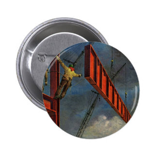 Vintage Business, Steel Construction Workers Buttons