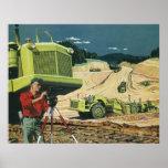 Vintage Business, Surveyor on a Construction Site