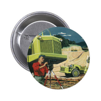 Vintage Business, Surveyor on a Construction Site Pin