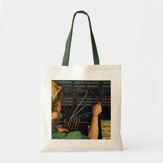 Vintage Business, Switchboard Operator Occupation Canvas Bag