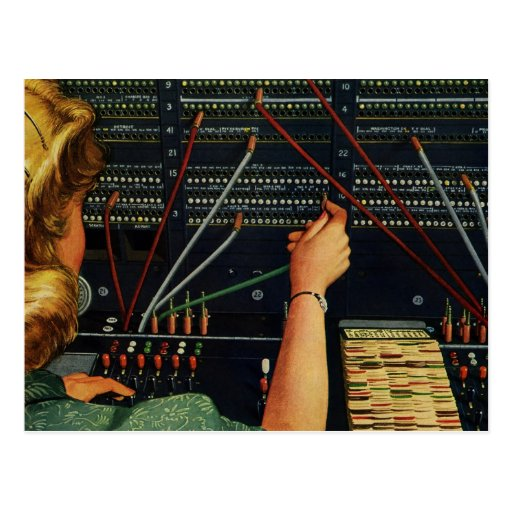 Vintage Business, Switchboard Operator Occupation Post Cards