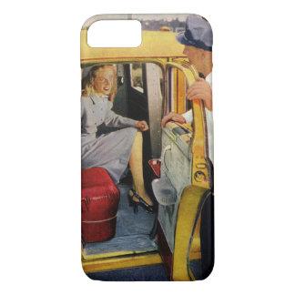 Vintage Business, Taxi Cab Driver Woman Passenger iPhone 7 Case