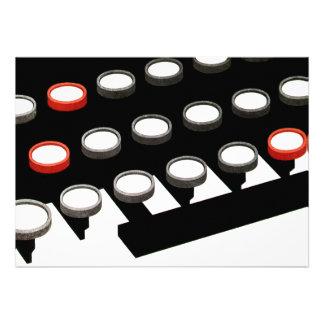 Vintage Business Typewriter Keyboard w Round Keys Announcements
