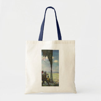 Vintage Business, Workers with Gushing Oil Well Budget Tote Bag