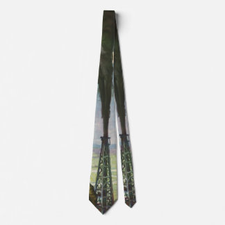 Vintage Business, Workers with Gushing Oil Well Tie
