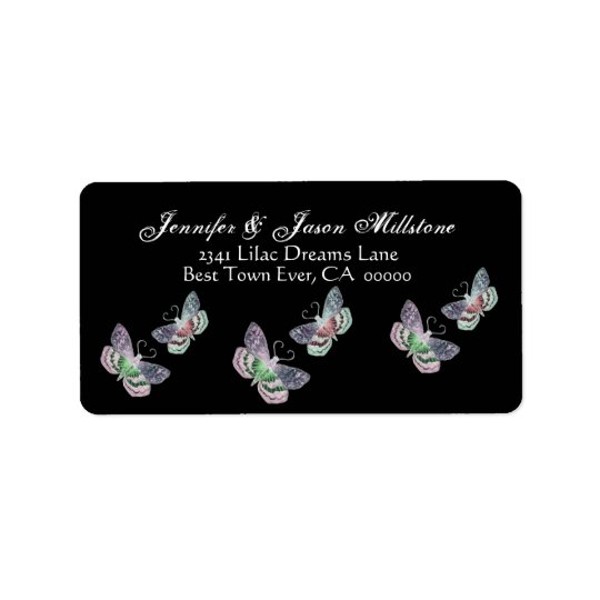 Vintage Butterflies Address Label