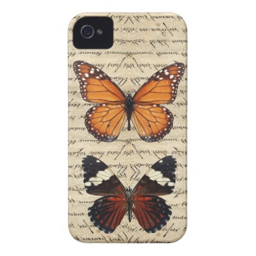Vintage butterflies collection iPhone 4 Case-Mate cases