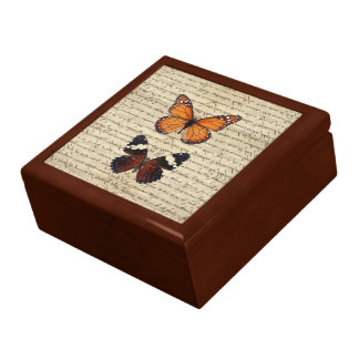 Vintage butterflies collection gift box