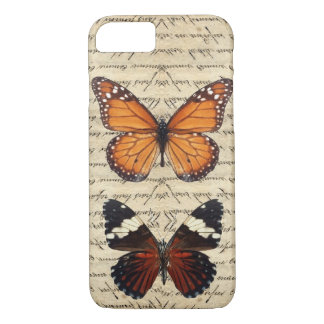Vintage butterflies collection iPhone 7 case