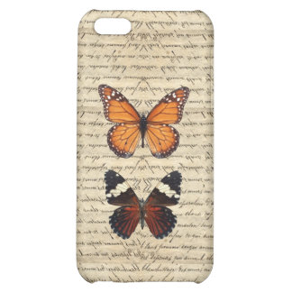Vintage butterflies collection case for iPhone 5C