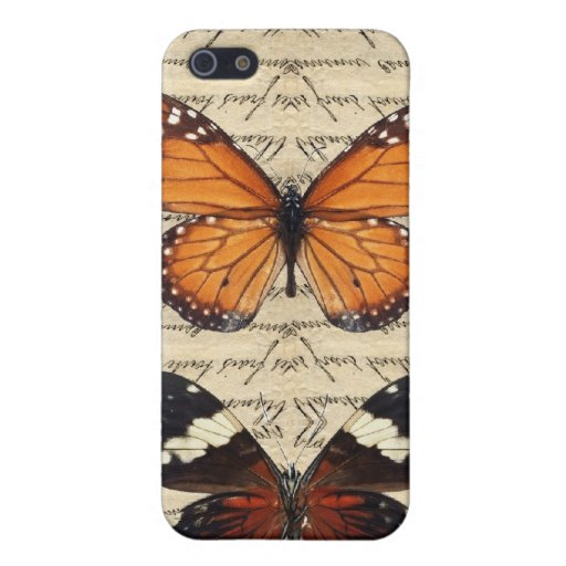 Vintage butterflies collection cases for iPhone 5