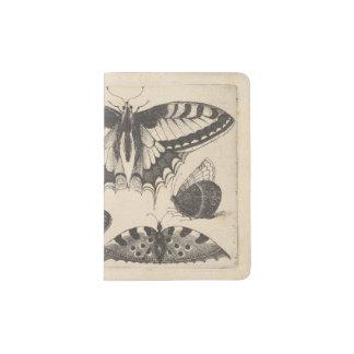 Vintage Butterflies Lepidoptera Nature Passport Holder