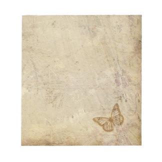 Vintage Butterflies Notepad
