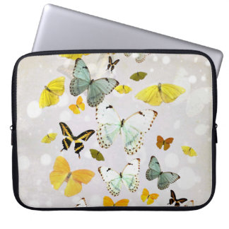 Vintage butterflies on a laptop sleeve