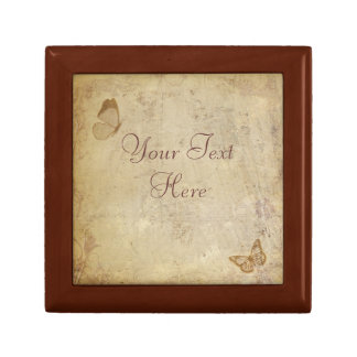 Vintage Butterflies Small Square Gift Box