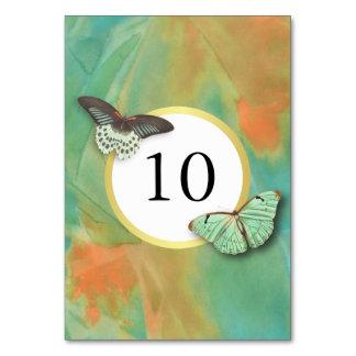 Vintage Butterflies Southwest Colors Table Number