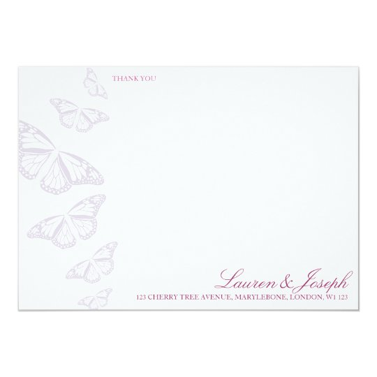 'Vintage' Butterflies Thank You Cards