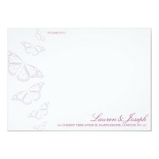 'Vintage' Butterflies Thank You Cards 13 Cm X 18 Cm Invitation Card