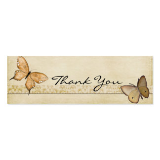 Vintage Butterflies Thank You Note Business Card