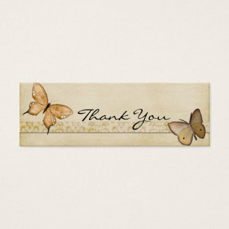 Vintage Butterflies Thank You Note Mini Business Card