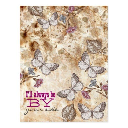 Vintage butterflies to wallpaper postcards