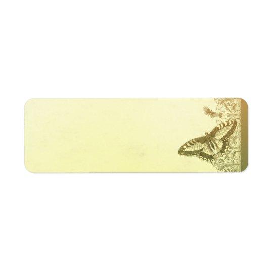 vintage butterflies wedding address labels