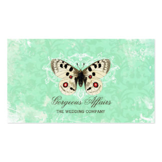 Vintage Butterfly Blue Business Card