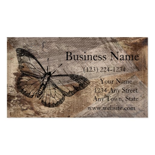 Vintage Butterfly Business Card Templates