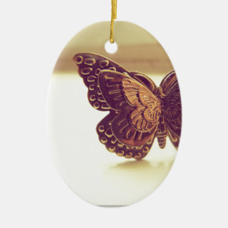 Vintage Butterfly Christmas Ornament